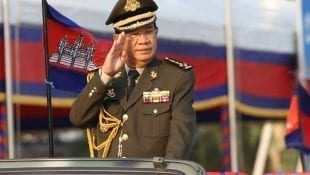Prime Minister Hun Sen attends a 20-year anniversary event of the Royal Cambodian Armed Forces on January 24, 2019. (Hun Sen's Facebook page)