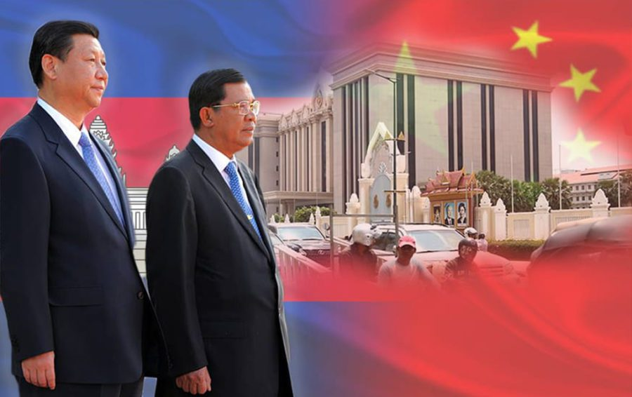Prime Minister Hun Sen and China President Xi.