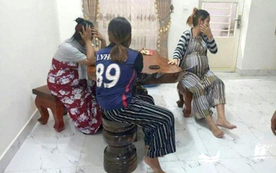 Police arrested 11 surrogate mothers in Phnom Penh's Sen Sok district on November 8, 2018. (National Police)