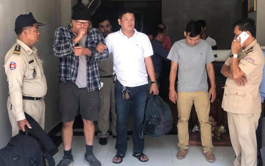American Danny Lee Pope, 60, was arrested in relation to human trafficking on March 2, 2019, in Phnom Penh. (Facebook)