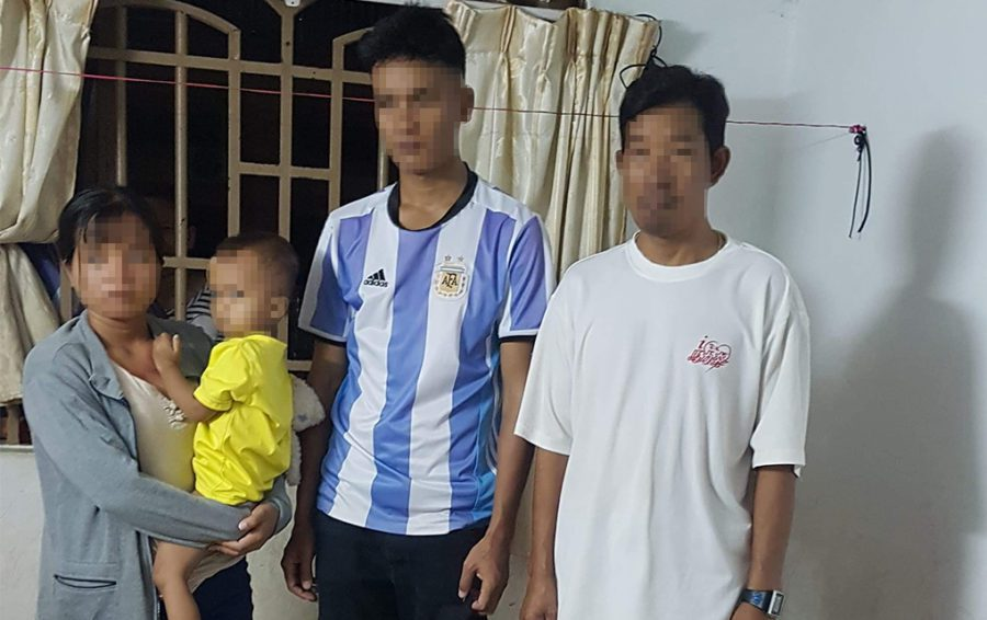 The four Montagnards sent back to Vietnam on Friday morning. Image: Supplied