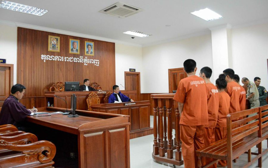 A hearing at the Phnom Penh Municipal Court (UNOHCHR)