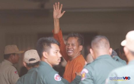 Rath Rott Mony arrives at the Phnom Penh Municipal Court on June 26, 2019 ahead of his verdict. (Supplied)