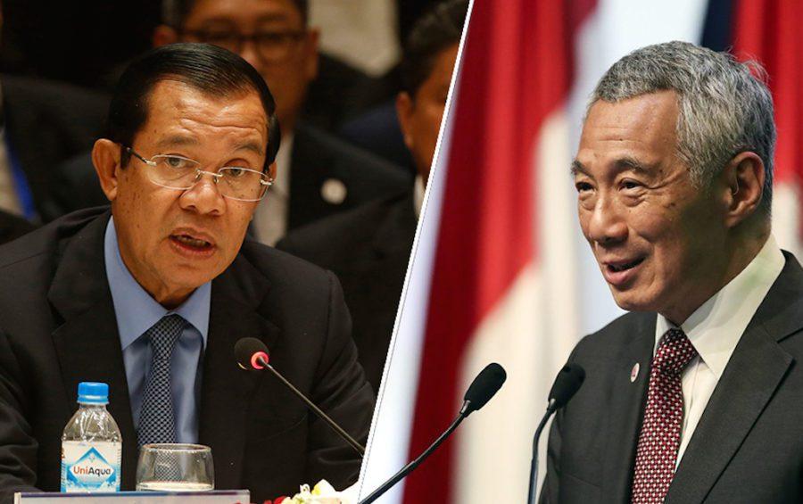Hun Sen and Lee Hsein Loong