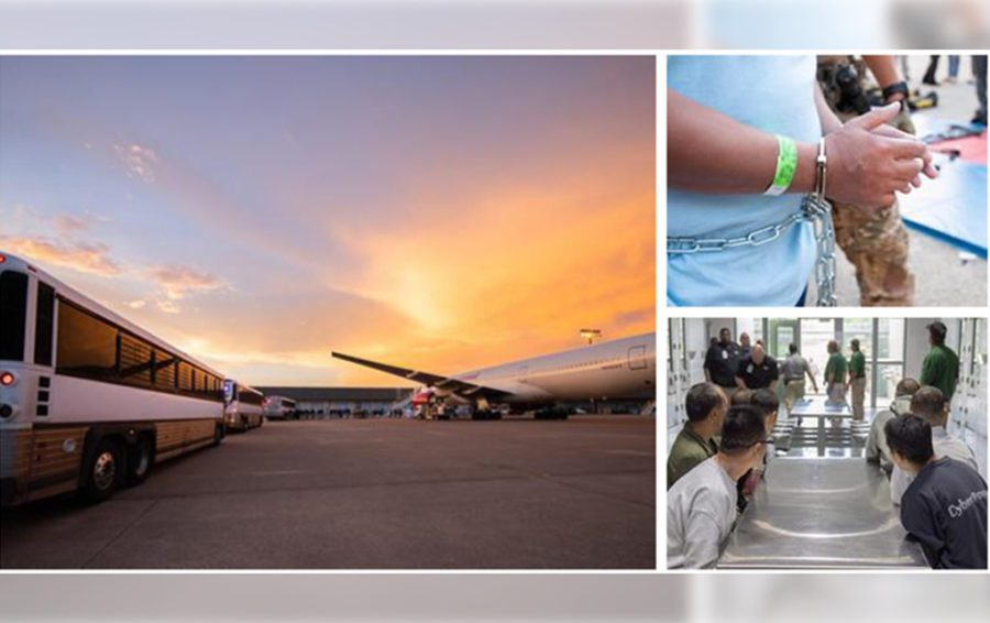 Pictures show the return of Cambodians from the United States to Cambodia. Image: ice.gov