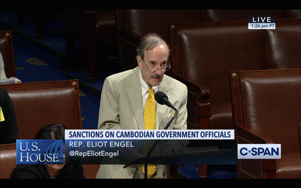 US congressman Eliot Engel speaks in the House of Representatives on July 15, 2019.