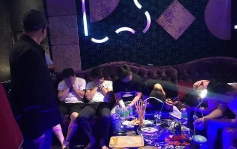 "Police arrested 146 people and confiscated drugs and drug paraphernalia in a Chinese-owned nightclub — called the ""Obama Club"" — in Sihanoukville on July 25, 2019. (Preah Sihanouk Provincial Administration)"