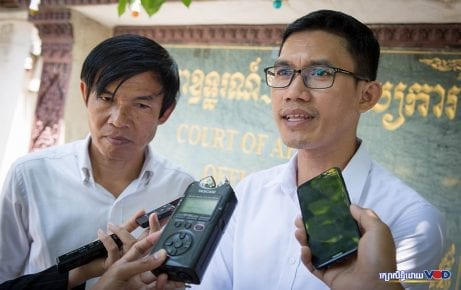 Mr. Uon Chhin, formerly a videographer, and Mr. Yeang Sothearin, a former news editor. Image: Hout Vuthy