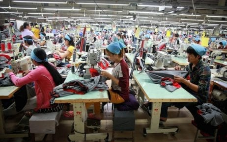 Garment factory workers in Cambodia (ILO)