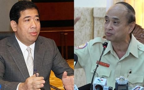 Tax department director Kong Vibol and Anti-Corruption Unit chairman Om Yentieng
