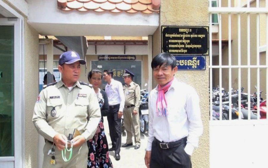 Oun Chhin at the Phnom Penh Municipal Court (VOD)
