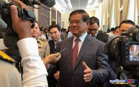 Interior Minister Sar Kheng at the 3rd Government-CSO Partnership Forum on August 29, 2019. (VOD)