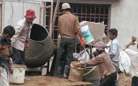 Construction workers (ILO/ Khem Sovannara)