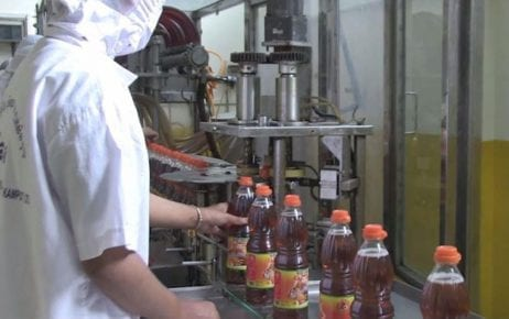 A fish sauce production line in Phnom Penh