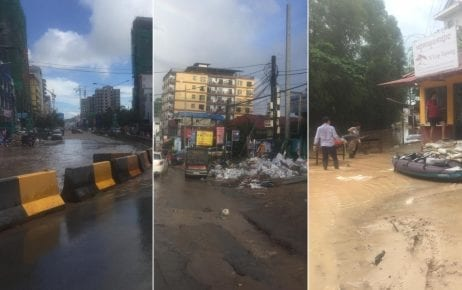 The aftermath of flooding in Sihanoukville, August 15, 2019. (Kong Meta)