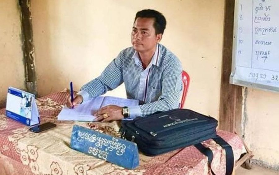 Hun Sokong, a former CNRP commune chief in Kampong Cham province (Facebook)