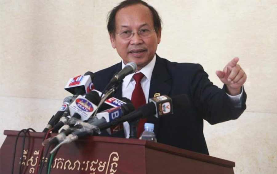 Government spokesman Phay Siphan at the Council of Ministers in Phnom Penh (file photo)