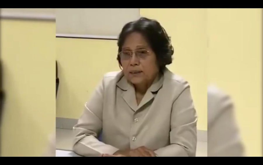 Seng Sokhorn, a former opposition commune chief in Phnom Penh, speaks in a video released by the government's Press and Quick Reaction Unit on October 10, 2019.