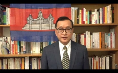 CNRP acting president Sam Rainsy in a video posted to his Facebook page on October 29, 2019.