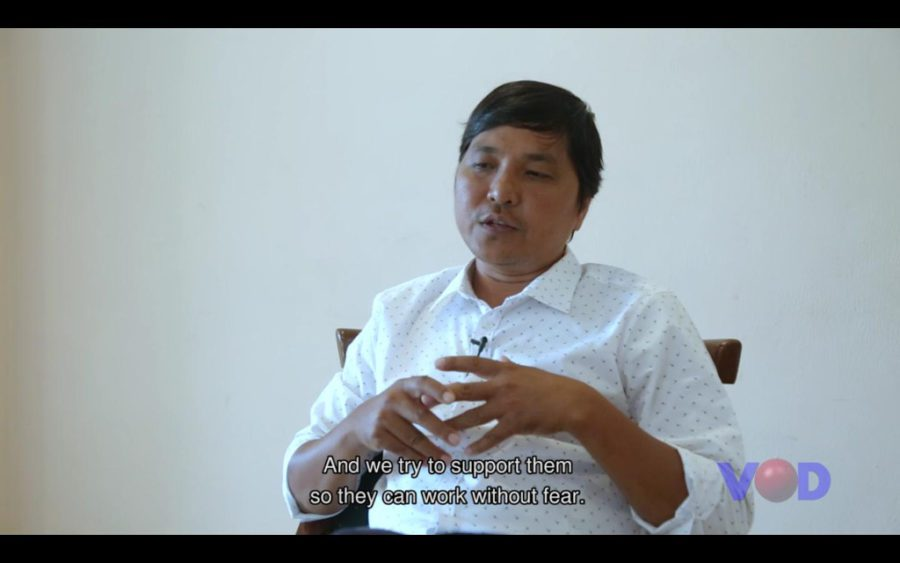 CamboJA executive director May Titthara in a video interview on October 23, 2019. (Supplied)