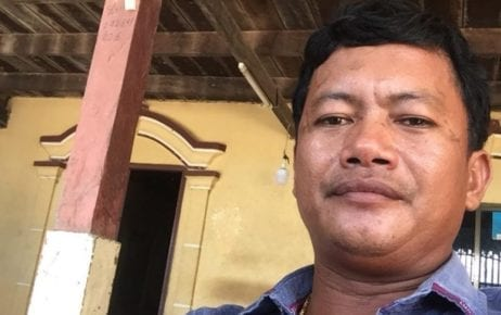 Dong Sovannarith, former head of CNRP's youth group in Kampong Cham province's Batheay district, in this photograph posted on his Facebook page.