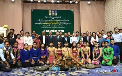 Representatives of indigenous communities, NGOs and the Rural Development Ministry gather for a workshop in Phnom Penh on October 10, 2019. (Khun Vanda)