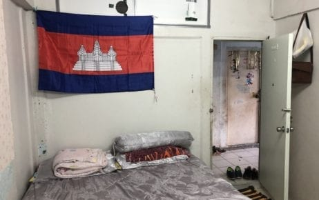 Cambodian migrant worker Sa Phay's rented room in Rangsit, Thailand, on November 11, 2019 (Matt Surrusco/VOD)