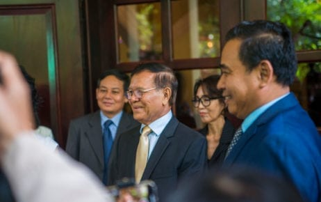 CNRP president Kem Sokha at his home in Phnom Penh on November 11, 2019. (Sanh Bun Hoeun/VOD)