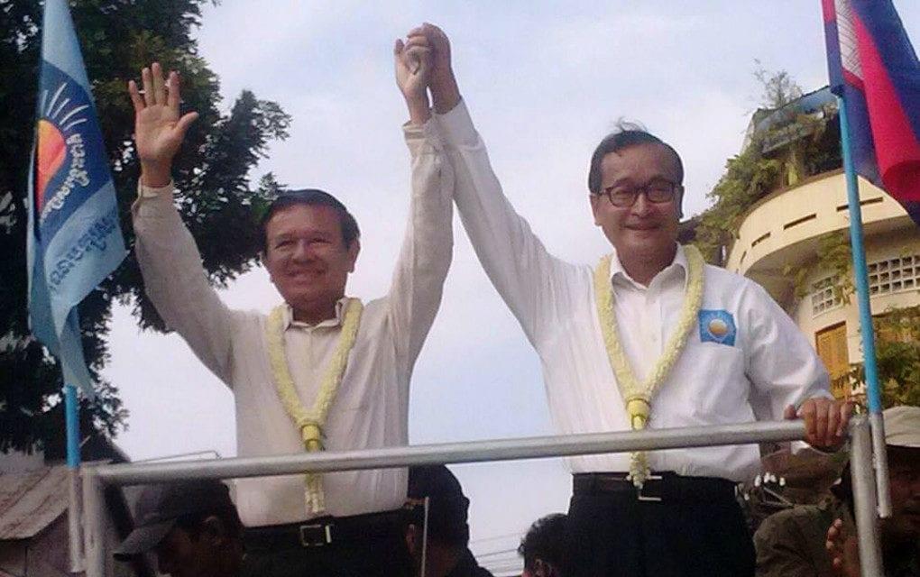 CNRP co-founders Kem Sokha and Sam Rainsy (VOD)