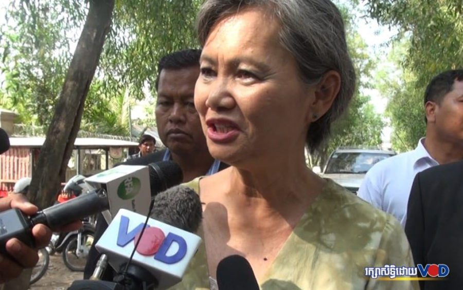 CNRP vice-president Mu Sochua (VOD file photo)