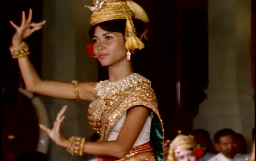 Princess Norodom Bopha Devi dancing, in a photograph excerpted from a video of the Royal Ballet of Cambodia posted on public.resource.org's YouTube channel. (Creative Commons)