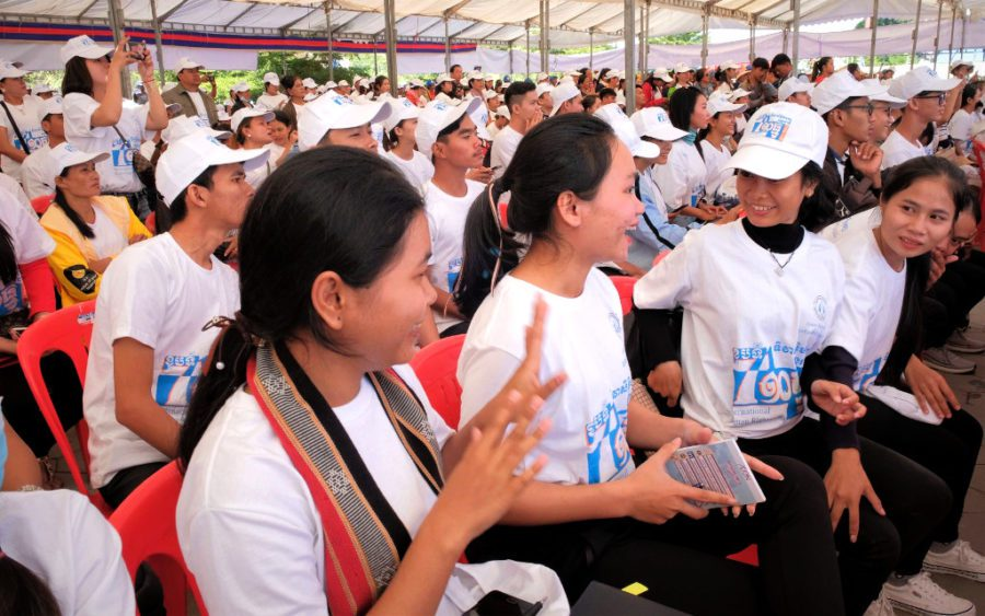 Participants gather at Phnom Penh's Freedom Park to celebrate International Human Rights Day on December 10, 2019. (Mech Choulay/VOD)