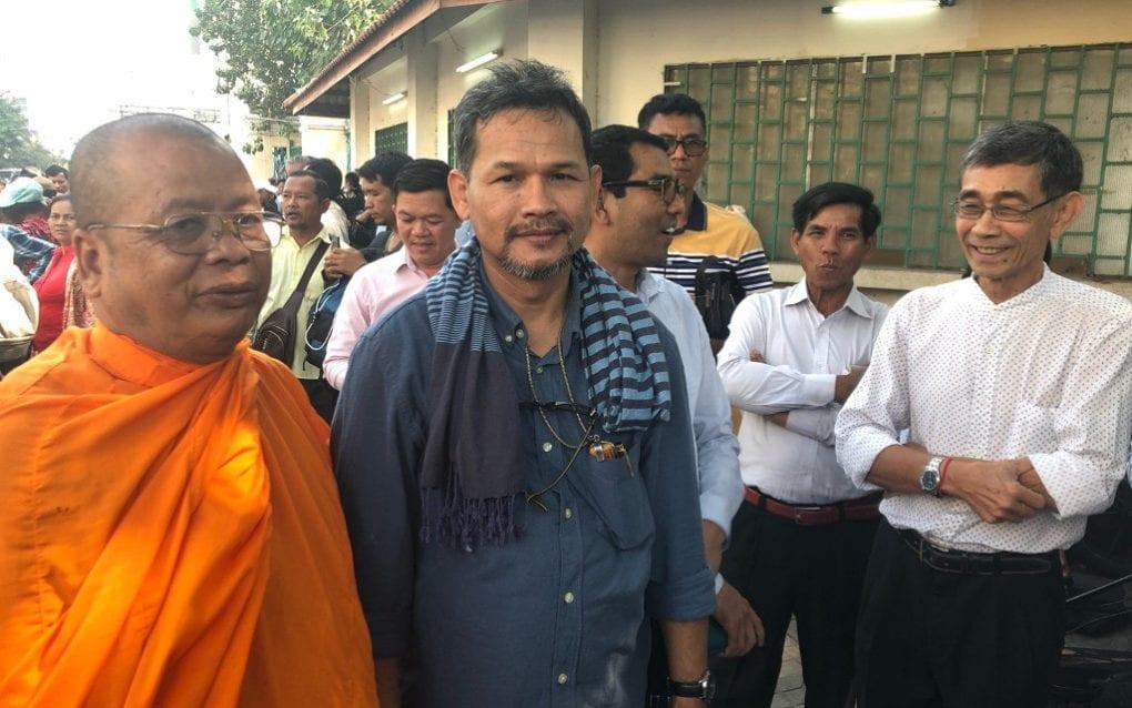 Meach Sovannara outside the Phnom Penh Municipal Court on January 15, 2020. (Matt Surrusco/VOD)