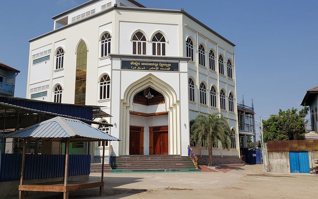 Phnom Penh's Prek Pra Mosque after the temporary ban on religious gatherings on March 19, 2020. (Danielle Keeton-Olsen/VOD)