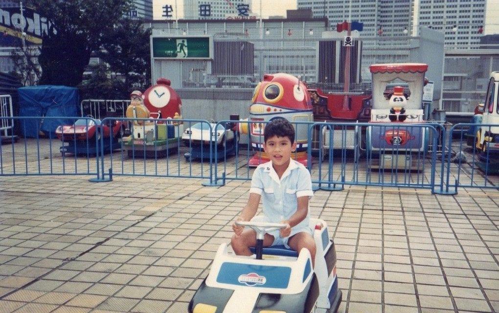 Kenji Kuraki at an amusement park (Courtesy of Kenji Kuraki)