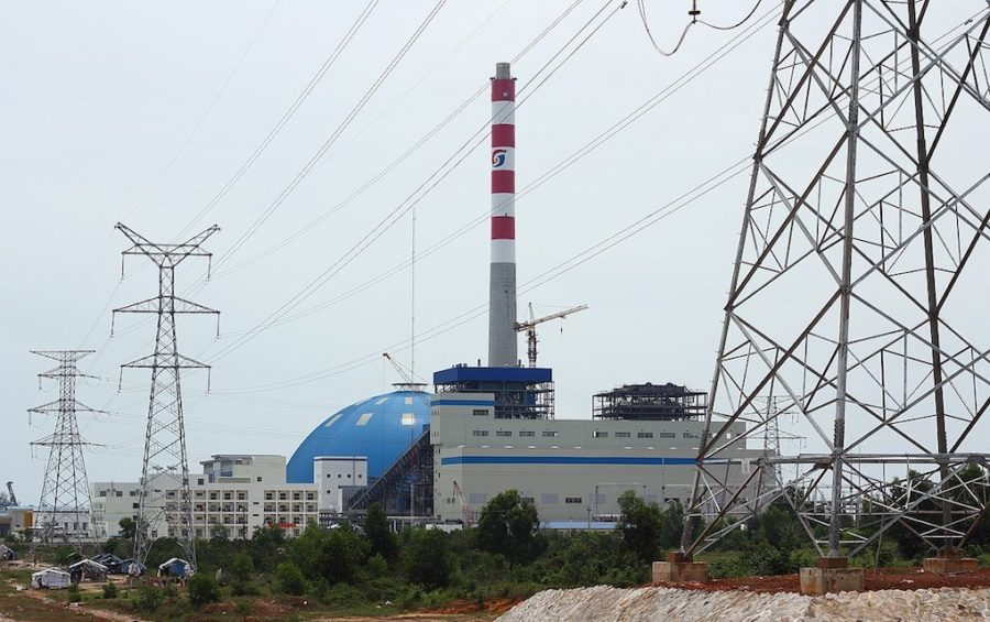 A coal power plant in Preah Sihanouk province's Stung Hav district (Wikimedia Commons)