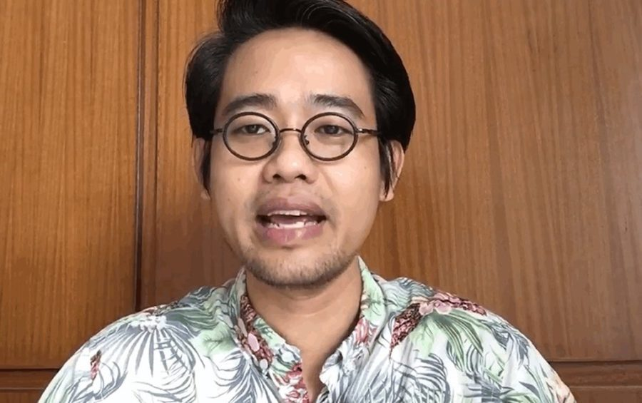 Wanchalearm Satsaksit, a Thai pro-democracy activist, in a screenshot from a video posted to his Facebook page on June 3, 2020, the day before he was abducted in Phnom Penh.