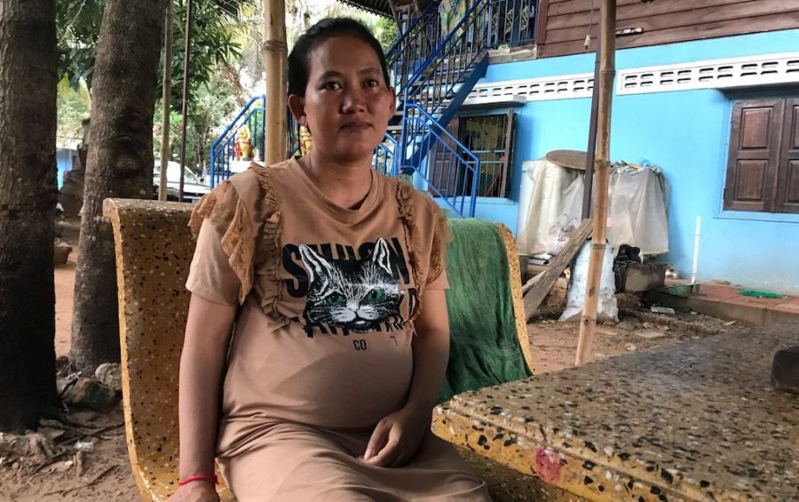 Sok Chamroeun, photographed on July 2, 2020 in Siem Reap City, recalls how 10 provincial officials entered her home in early March to arrest her husband, Puth Thona. (Mech Dara/VOD)