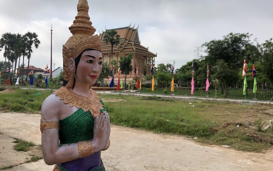 A statue at Wat Pothivong in Prey Veng province's Svay Antor commune on September 1, 2020, three days after Kem Sokha visited the pagoda. (Matt Surrusco/VOD)