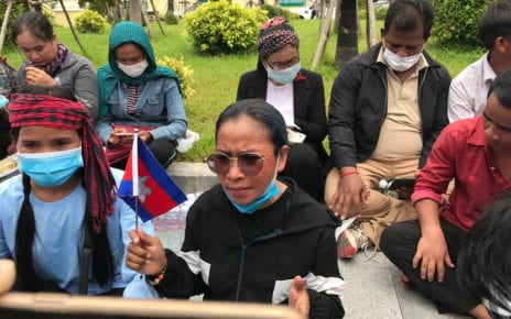 Eng Malai, also known as So Metta, participates in a protest in Phnom Penh on September 8, 2020. (Chorn Chanren/VOD)