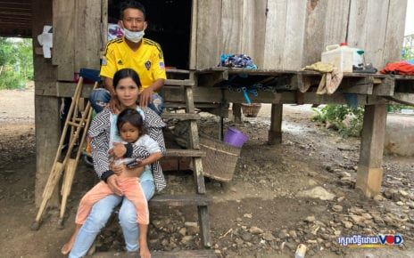 Migrant worker Sun Vith and his family had to return from Thailand in March because of the Covid-19 pandemic, only to find no job opportunities in their home district of Kamrieng in Battambang province. (Ananth Baliga/VOD)