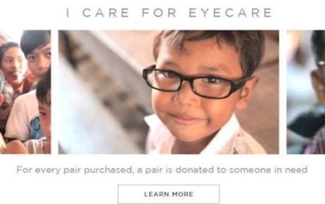 An Oscar Wylee advertisement about supporting eye care in Cambodia.