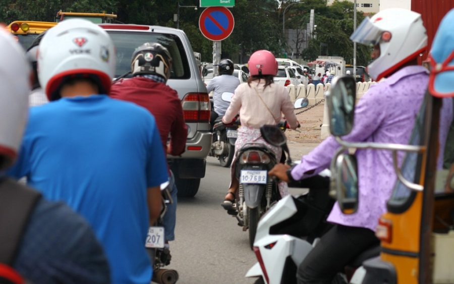 Traffic congestion in Phnom Penh on September 15, 2020. (VOD)