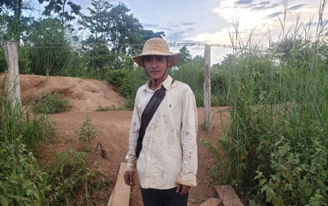 Vong Suth, an assistant to one of the plantation managers at TBYB Angkor Banana, a nearly 3,000-hectare banana farm in Stung Treng province's O'Svay commune on September 23, 2020. (Danielle Keeton-Olsen/VOD)
