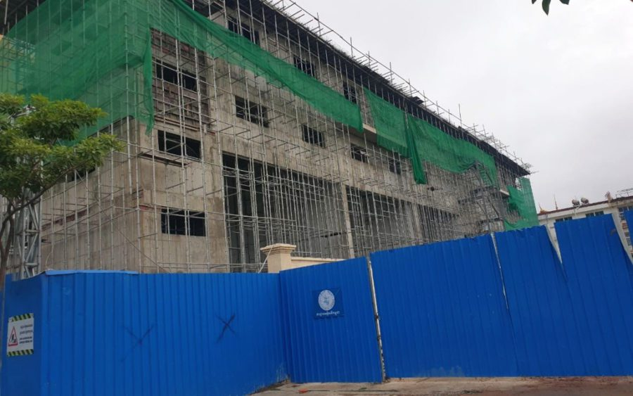 A new electricity substation on the grounds of the Olympic Stadium in Phnom Penh, in October 2020. (Mech Dara/VOD)