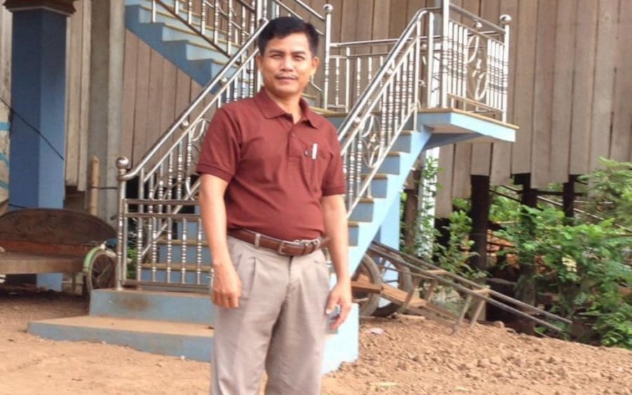 Van Sophat, a former opposition district councilor in Tbong Khmum province's Kroch Chhmar district, in a photo posted to the Facebook page of ex-CNRP lawmaker Kong Saphea.