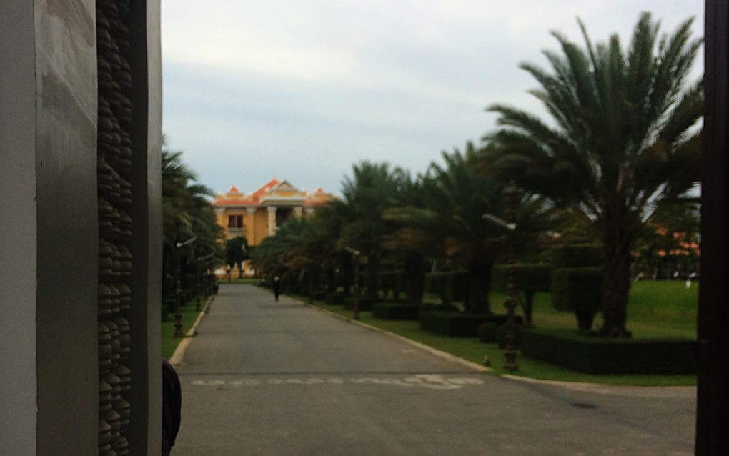 Land Management Minister Chea Sophara's Phnom Penh estate, on October 28, 2020. (Michael Dickison/VOD)