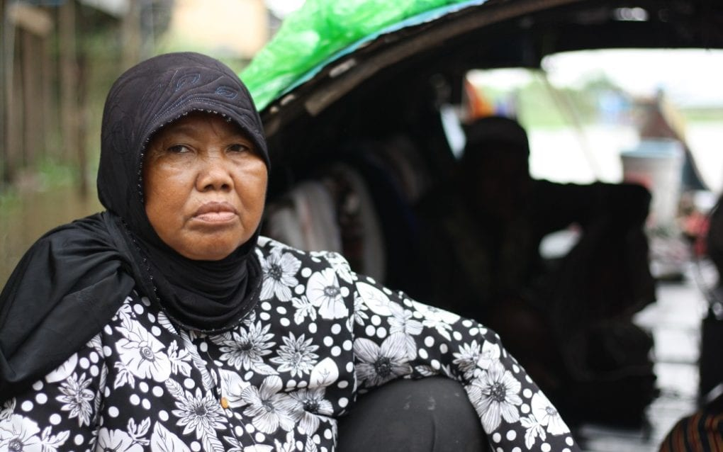 The victim's mother, Sos Mas, 67, in Setbo commune, in Kandal province's Takhmao city, on November 20, 2020. (Michael Dickison/VOD)