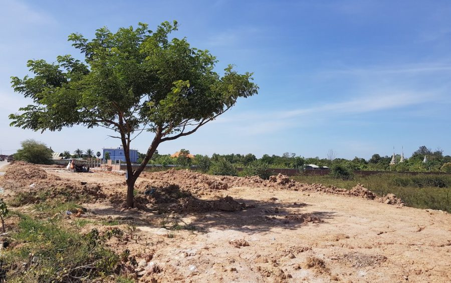 Land-filling at Phnom Penh's Boeng Tamok lake in Prek Pnov district on November 24, 2020 (Tran Techseng/VOD)