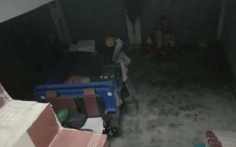 A sex trafficking victim in China uploaded a photo of the house she was forced to live in, in a Facebook post on November 28, 2020.
